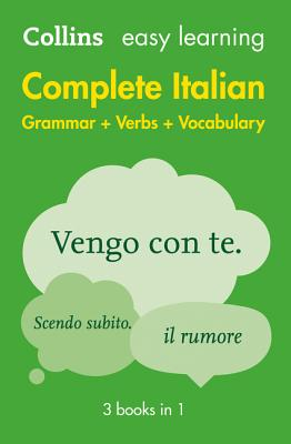 Image for Easy Learning Complete Italian Grammar, Verbs and Vocabulary (3 Books in 1)