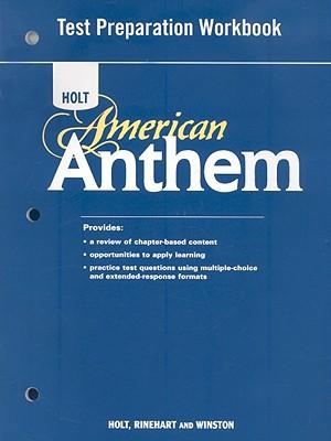 Image for American Anthem, Grades 9-12 Test Preparation Workbook: Holt American Anthem