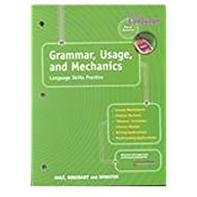 Image for Grammar, Usage, and Mechanics: Elements of Language, 1st Course