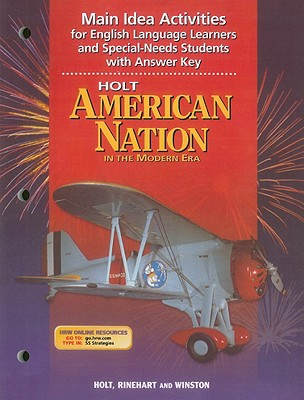 Image for American Nation, Grades 9-12 in the Modern Era Main Idea Activities for English Language Learners and Special-needs Students: American Nation