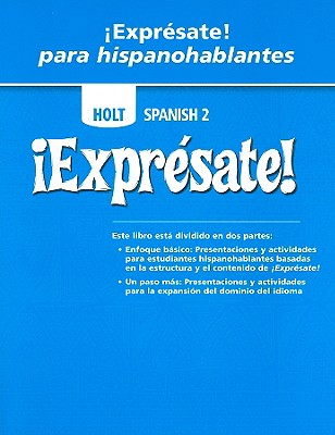 Image for ¡Exprésate!: Expresate Para Hispanohablantes Student Edition Level 2