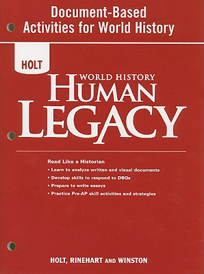 Image for Document-based Activities for World History, Grades 9-12 With Pre Ap Strategies: Holt World History Human Legacy