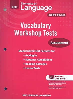 Image for Holt Elements of Language, Second Course: Vocabulary Workshop Tests: Assessment