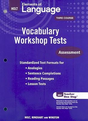 Image for Holt Traditions Vocabulary Workshop: Vocabulary Workshop Tests
