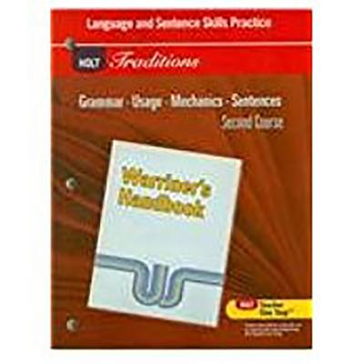 Image for Holt Traditions Warriner's Handbook: Language and Sentence Skills Practice Second Course Grade 8 Second Course