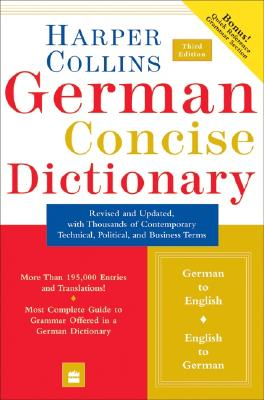Image for Collins German Concise Dictionary, 3e (HarperCollins Concise Dictionaries) (English and German Edition)