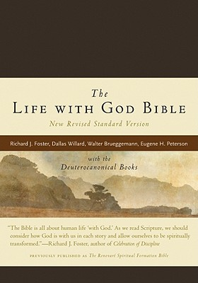 The Life with God Bible NRSV (Compact, Ital Leath, Brown): with the Deuterocanonical Books, Renovare, Richard J. Foster, Dallas Willard, Walter Brueggemann, Eugene H. Peterson, Bruce Demarest, Evan Howard, James Earl Massey, Catherine Taylor