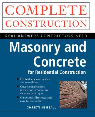Masonry and Concrete, Beall, Christine