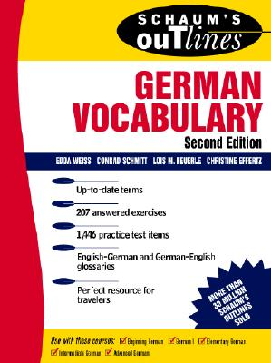 Image for Schaum's Outlines of German Vocabulary