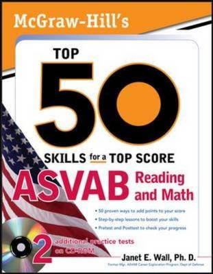 Image for McGraw-Hill's Top 50 Skills For A Top Score: ASVAB Reading and Math with CD-ROM