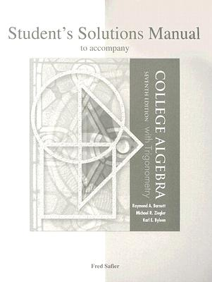 Image for Student's Solutions Manual to accompany College Algebra with Trigonometry