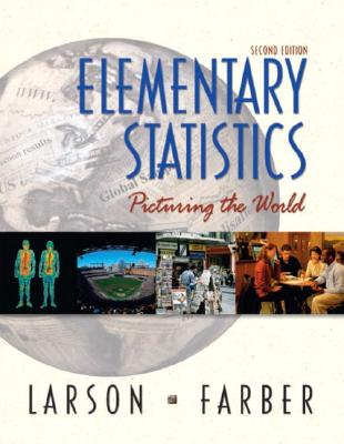 Image for Elementary Statistics: Picturing the World (2nd Edition)