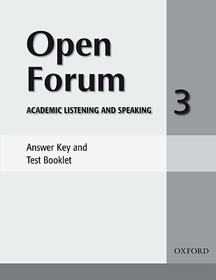 Image for Open Forum 3 Answer Key And Test Booklet
