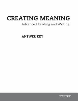 Image for Creating Meaning: Answer Key Booklet