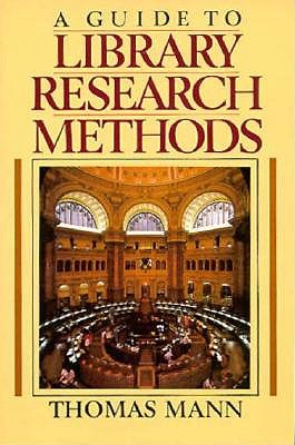 Image for A Guide to Library Research Methods