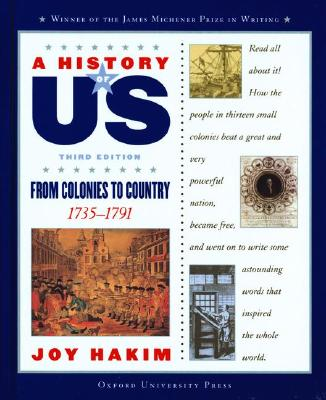 Image for A History of US: Book 3: From Colonies to Country 1735-1791