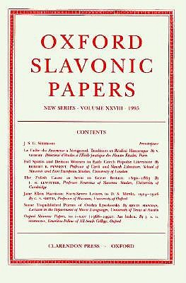 Image for Oxford Slavonic Papers, New Series: Volume XXVIII