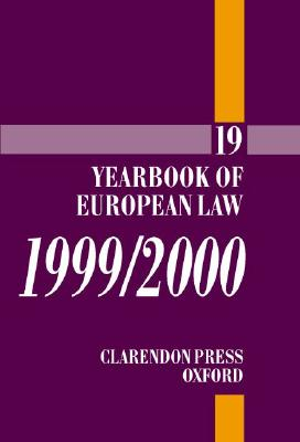 Image for Yearbook of European Law: Volume 19: 1999/2000