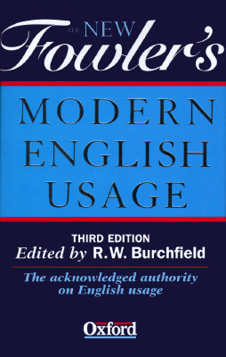 Image for FOWLER'S MODERN ENGLISH USAGE, THIRD EDITION