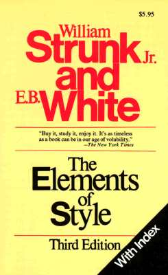 Image for ELEMENTS OF STYLE, THE