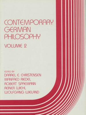 Image for Contemporary German Philosophy: Volume 2