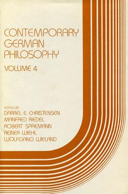 Image for Contemporary German Philosophy: Volume 4