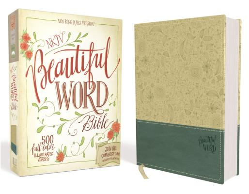 "Image for ""NKJV, Beautiful Word Bible, Imitation Leather, TanBlue, Red Letter Edition: 500 Full-Color Illustr"""