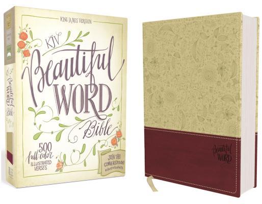 "Image for ""''KJV, Beautiful Word Bible, Imitation Leather, TanPink, Red Letter Edition: 500 Full-Color Illustra''"""