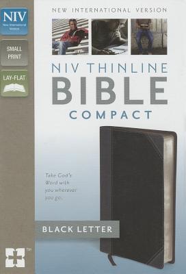 "Image for ""NIV, Thinline Compact Bible (Charcoal Italian Duo-Tone)"""