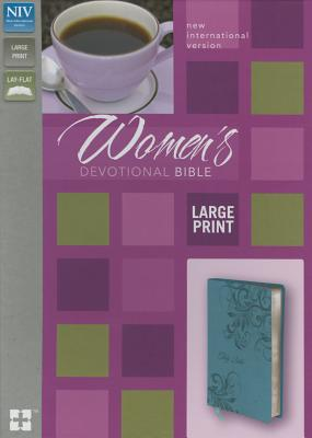 "Image for ""NIV Womens Devotional Bible, Large Print, Italian Duo-Tone Turquoise"""