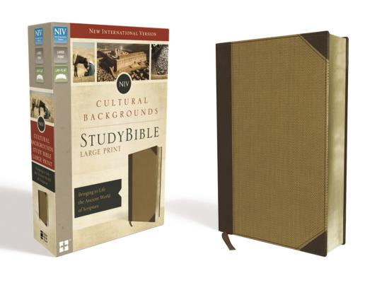 Image for NIV, Cultural Backgrounds Study Bible, Large Print, Imitation Leather, Tan, Red Letter Edition: Bringing to Life the Ancient World of Scripture