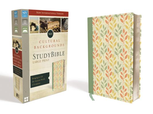 Image for NIV, Cultural Backgrounds Study Bible, Large Print, Imitation Leather, Green, Red Letter Edition: Bringing to Life the Ancient World of Scripture