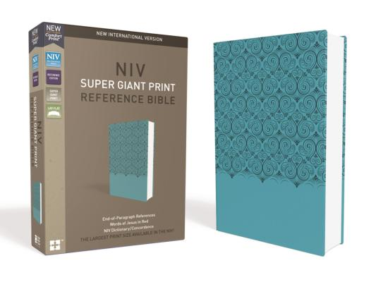 "Image for ""NIV Super Giant-Print Reference Bible--soft leather-look, blue"""