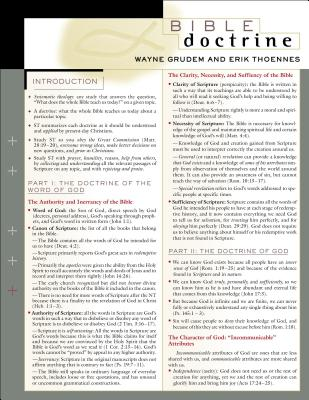 Image for Bible Doctrine Laminated Sheet