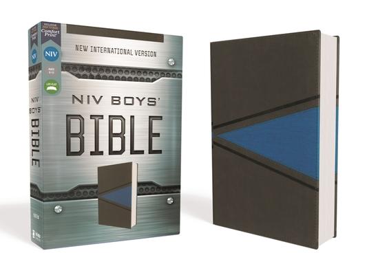 Image for NIV, Boys' Bible, Leathersoft, Gray/Blue, Comfort Print