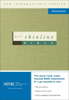 Image for NIV Thinline Bible (New International Version, Bonded Leather, Navy Blue)