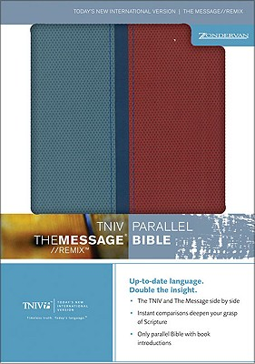 Image for TNIV/The Message Remix Parallel Bible (Today's New International Version/The Message, Italian Duo-Tone Leather, Light Blue/Red)