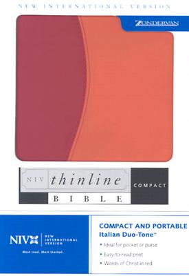 Image for NIV Compact Thinline Bible (New International Version, Italian Duo-Tone, Red/Orange)