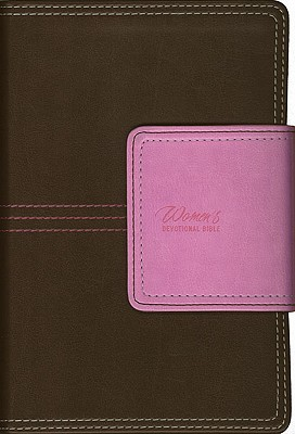 Image for Women's Devotional Bible: Compact, Magnetic Flap Edition (New International Version, Italian Duo-Tone Leather, Pink/Brown)