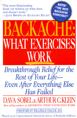 Image for BACKACHE  WHAT EXERCISES WORK