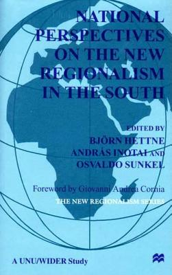 Image for National Perspectives On the New Regionalism in the South: Vol. 3