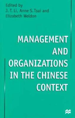 Image for Management and Organizations in the Chinese Context