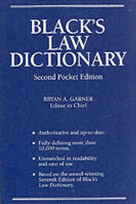 Image for BLACK'S LAW DICTIONARY