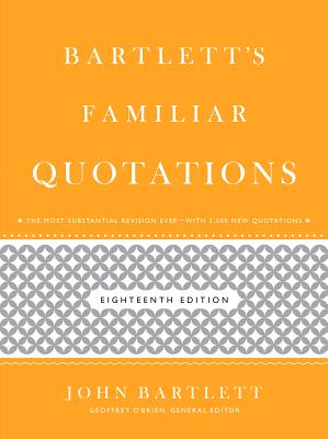 Image for Bartlett's Familiar Quotations
