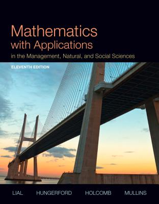 Image for Mathematics with Applications In the Management, Natural and Social Sciences