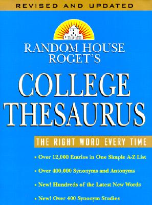 Image for Random House Roget's College Thesaurus: Revised Edition