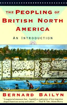Image for PEOPLING OF BRITISH NORTH AMERICA