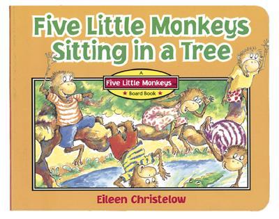 Five Little Monkeys Sitting in a Tree, Christelow, Eileen