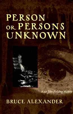 Image for Person Or Persons Unknownr (A Sir John Fielding Mystery)