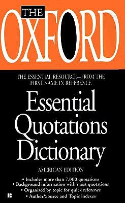 Image for The Oxford Essential Quotations Dictionary
